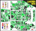 Green Stickerbomb themed vinyl SKIN Kit & Stickers Fits Tamiya Lunchbox R/C Monster Truck